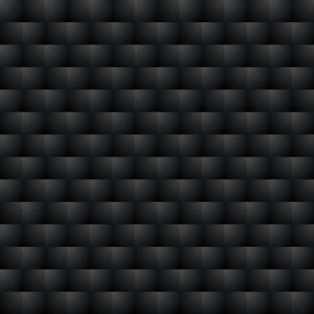 Motif continu Noir. 3D Optical Illusion Background Texture dans des couleurs sombres. Éditable Illustration Vecteur EPS10. Vecteurs