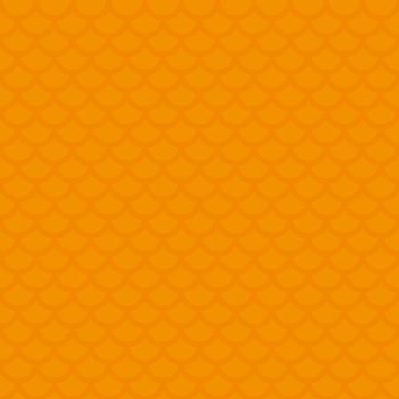 Fischschuppen. Orange Neutral nahtlose Muster für modernes Design in Wohnung Art. Verfliesbare Geometric Vector Background.