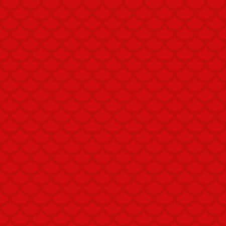red fish: Fish scale. Red Neutral Seamless Pattern for Modern Design in Flat Style. Tileable Geometric Vector Background.