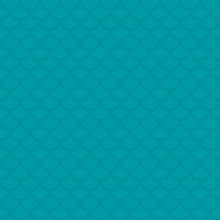 fish scale: Fish scale. Turquoise Neutral Seamless Pattern for Modern Design in Flat Style. Tileable Geometric Vector Background. Illustration