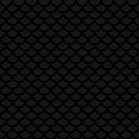 Écaille de poisson. Noir Motif continu neutre pour le design moderne dans le style plat. Tileable géométrique vecteur de fond. Vecteurs