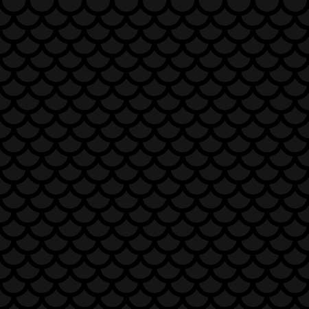 mesh: Fish scale. Black Neutral Seamless Pattern for Modern Design in Flat Style. Tileable Geometric Vector Background. Illustration