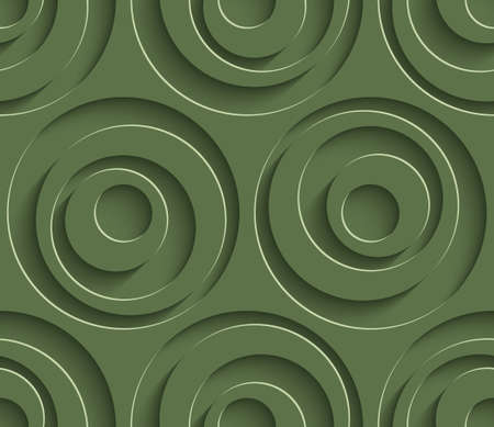 kale: 3D Seamless Pattern in Kale Color. Neutral Tileable Vector Background for Material Design.