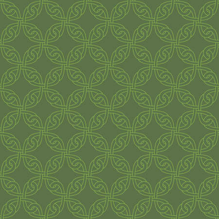 knotwork: Neutral Seamless Linear Pattern. Tileable Geometric Outline Ornate. Celtic Knotwork Vector Background.