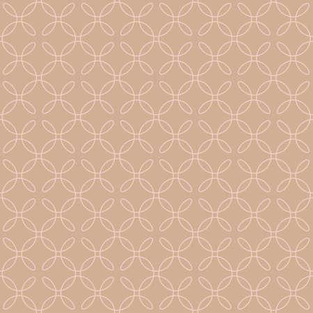Neutral Seamless Linear-Muster. Verfliesbare geometrische Kontur Verziert. Vintag blühen Vector Background.
