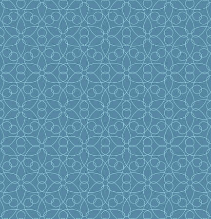 scrollwork: Neutral Seamless Linear Pattern. Tileable Geometric Outline Ornate. Floral Vector Background.