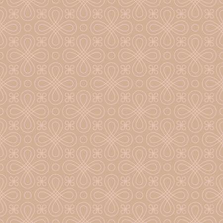 knotwork: Neutral Seamless Linear Pattern. Tileable Geometric Outline Ornate. Vintage Flourish Vector Background.