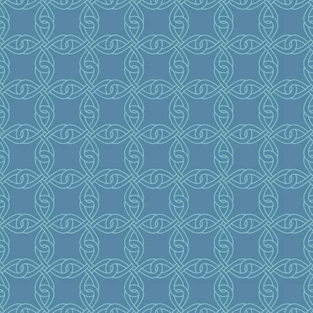 Neutral Seamless Linear Pattern. Tileable Geometric Outline Ornate. Celtic Knotwork Vector Background.