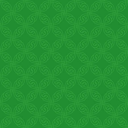patrics: Neutral Seamless Linear Pattern. Tileable Geometric Outline Ornate. Celtic Knotwork Vector Background.