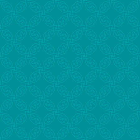 royal: Neutral Seamless Linear Pattern. Tileable Geometric Outline Ornate. Celtic Knotwork Vector Background.
