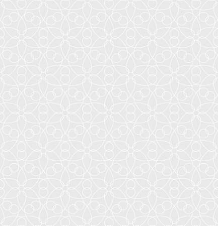 ornate background: Neutral Seamless Linear Pattern. Tileable Geometric Outline Ornate. Floral Vector Background.