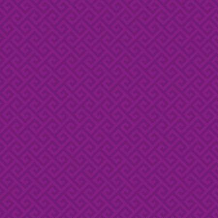 fondos violeta: Purple Classic meander seamless pattern. Greek key neutral tileable linear vector background.