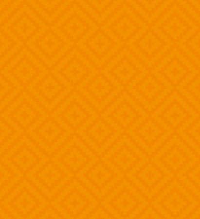 Orange Meander Pixel Art Pattern. Weiß Neutrales nahtloses Muster für modernes Design im flachen Stil. Tileable griechischen Schlüssel Vektor Hintergrund.