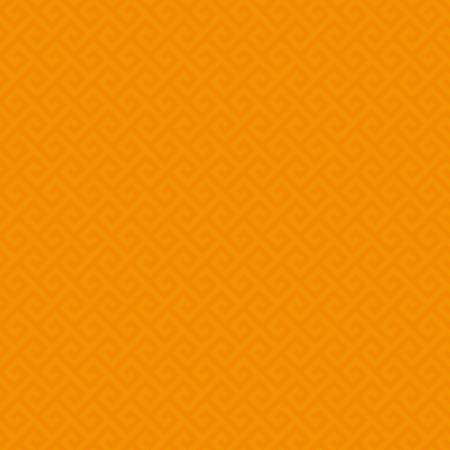 classic classical: Orange Classic meander seamless pattern. Greek key neutral tileable linear vector background.