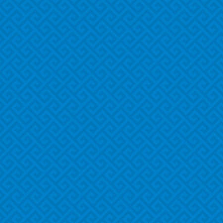 meander: Blue Classic meander seamless pattern. Greek key neutral tileable linear vector background.