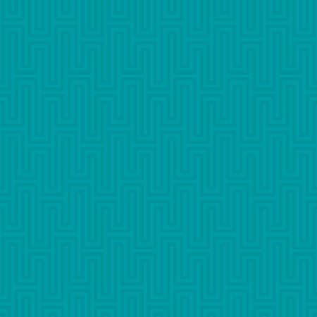 Turquoise Waveform seamless pattern. Neutral tileable linear vector background. Illustration
