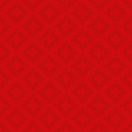 Red Squares Pixel Art Pattern. Checked Neutral Seamless Pattern for Modern Design in Flat Style. Tileable Geometric Vector Background. Ilustrace