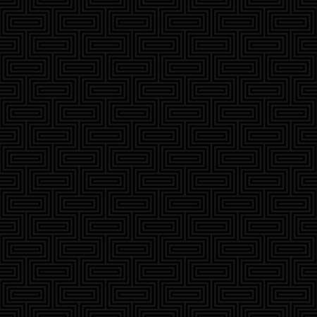 Black Classic seamless pattern. Neutal tileable linear vector background.