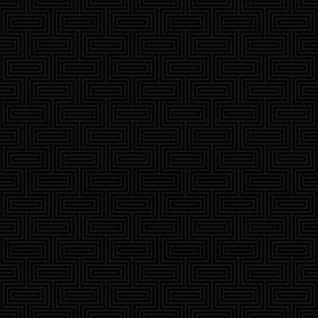 Zwart Classic naadloos patroon. Neutale tegelbare lineaire vector achtergrond. Vector Illustratie