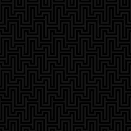 waveform: Black Waveform seamless pattern. Neutral tileable linear vector background.