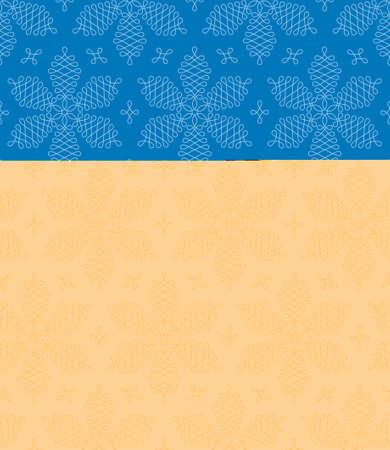 pape: Flourish Snowflakes Seamless Winter Pattern. Linear tileable vector background. Illustration