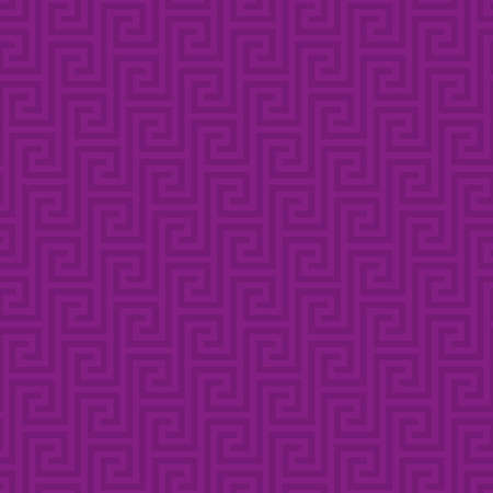asian art: Purple Classic meander seamless pattern. Greek key neutral tileable linear vector background.