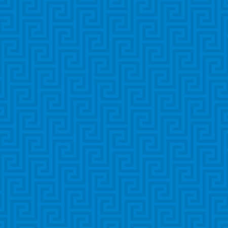 traditional pattern: Blue Classic meander seamless pattern. Greek key neutral tileable linear vector background.