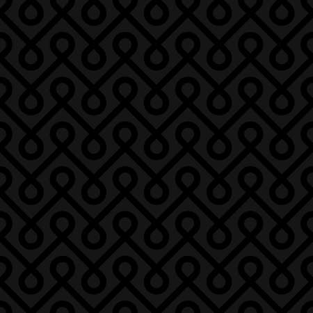 weaved: Black Linear Weaved Seamless Pattern. Neutal tileable vector background.
