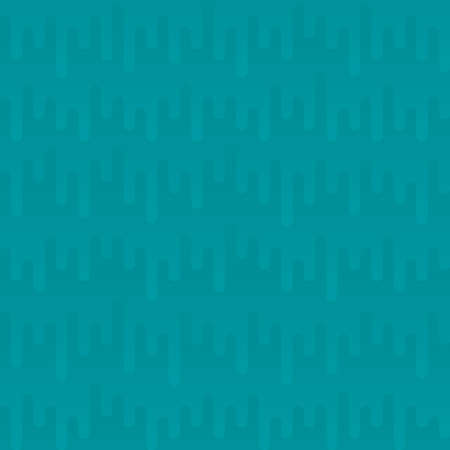 tortuous: Waveform Irregular Rounded Lines Seamless Pattern. Turquoise tileable vector background in flat style.