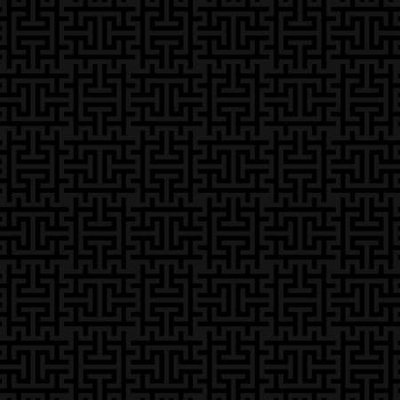 Black Checked gray Neutral Seamless Pattern for Modern Design in Flat Style. Tileable Geometric Vector Background. Vettoriali