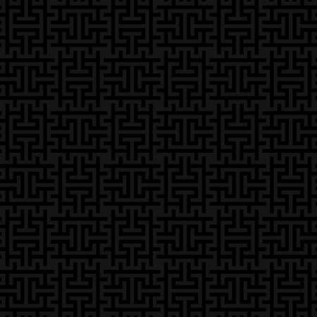 Noir Vérifié gris Motif continu neutre pour le design moderne dans le style plat. Tileable géométrique vecteur de fond. Vecteurs