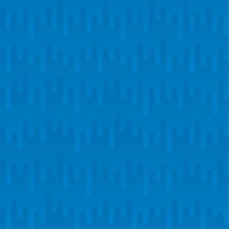 waveform: Waveform Irregular Rounded Lines Seamless Pattern. Blue tileable vector background in flat style. Illustration