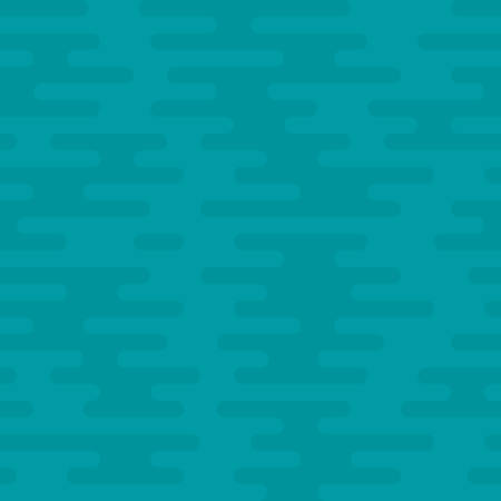 Ripple Irregular Rounded Lines Seamless Pattern. Turquoise tileable vector background in flat style.