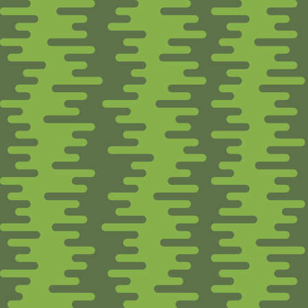 Ripple Irregular Rounded Lines Seamless Pattern. Greenery tileable vector background in flat style. 向量圖像