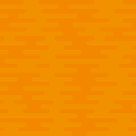 Ripple Irregular Rounded Lines Seamless Pattern. Orange tileable vector background in flat style.