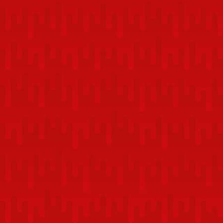 Waveform Irregular Rounded Lines Seamless Pattern. Red tileable vector background in flat style.