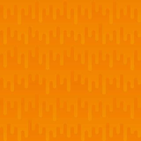 waveform: Waveform Irregular Rounded Lines Seamless Pattern. Orange tileable vector background in flat style.