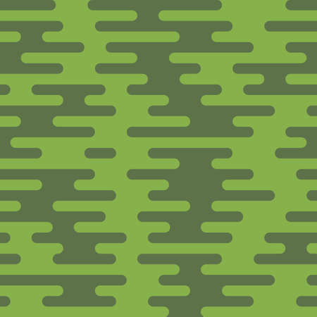 tortuous: Ripple Irregular Rounded Lines Seamless Pattern. Greenery tileable vector background in flat style. Illustration