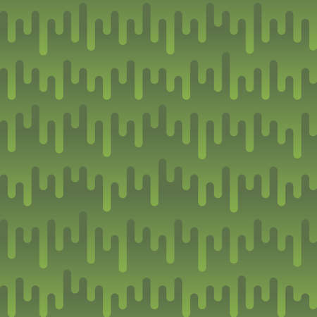 Waveform Irregular Rounded Lines Seamless Pattern. Greenery tileable vector background in flat style. 向量圖像