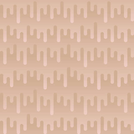tortuous: Waveform Irregular Rounded Lines Seamless Pattern. Beige tileable vector background in flat style.