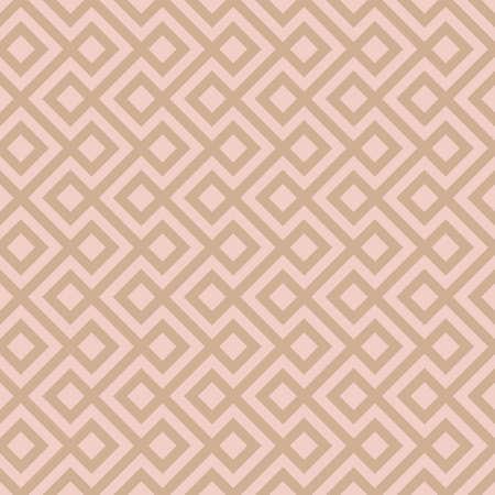 Beige Linear Weaved Seamless Pattern. Neutal tileable vector background.