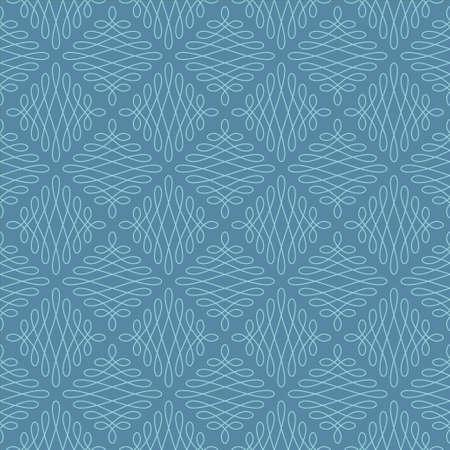 Neutral Seamless Linear Pattern. Tileable Geometric Outline Ornate. Vintage Flourish Vector Background. Iisland Paradise and Niagara colors. Illustration