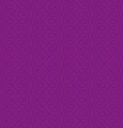 Neutral Seamless Thin Swirls Pattern. Tileable Geometric Outline Ornate. Vintage Flourish Vector Background for Retro Design. Illustration