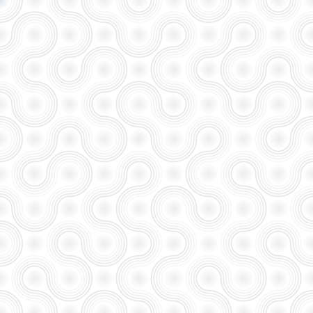 vector medical: White Biotechnology Pattern. Neutral Seamless Bacterial Cells Wallpaper Pattern. Tileable Medical Vector Background. Illustration