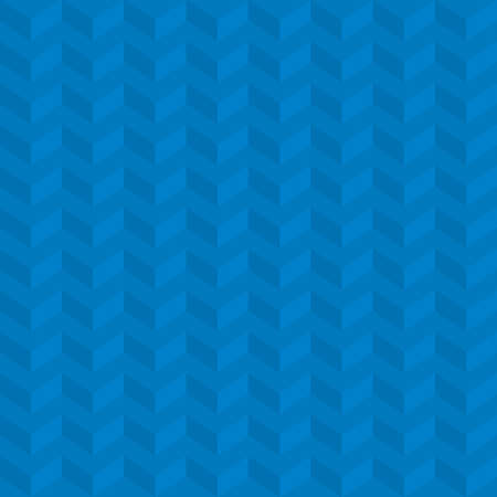 Blue Isometric Chevron Pattern. Neutral Seamless Herringbone Wallpaper Pattern for Modern Design in Flat Style. Tileable Geometric Tech Vector Background.