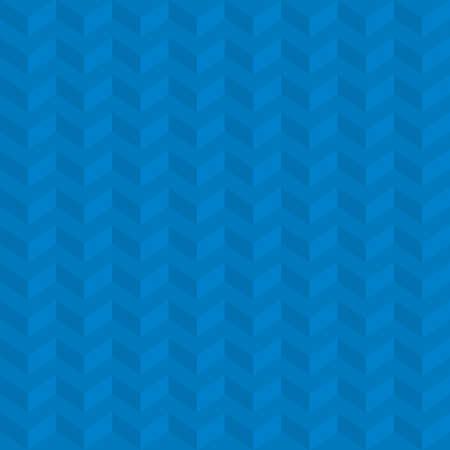 Modelo Isométrico Azul De Chevron. Patrón de papel pintado neutral de la espina de pez neutral para el diseño moderno en estilo plano. Fondo geométrico del vector de la tecnología de Tileable. Ilustración de vector