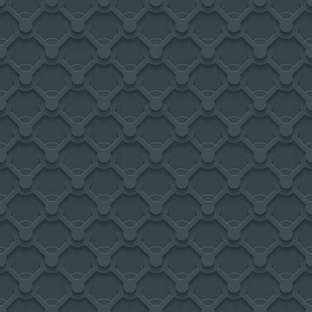 retro dark: Dark gray seamless pattern. Retro armor ironwork plate texture. Abstract 3d tileable background. Vector EPS10.