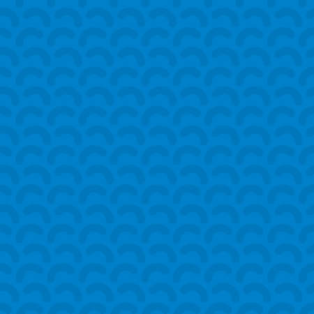 twist: Rounded lines seamless vector pattern. Neutral seamless vector background in blue color. Stock Photo