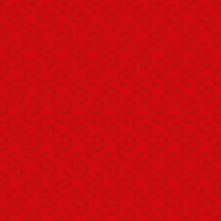 tile: Rounded lines seamless vector pattern. Neutral seamless vector background in red color.