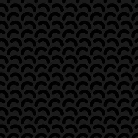 chaos: Rounded lines seamless vector pattern. Neutral seamless vector background in black color.
